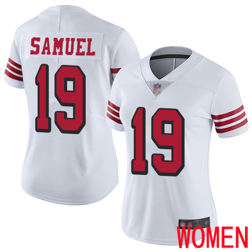 San Francisco 49ers Limited White Women Deebo Samuel NFL Jersey 19 Rush Vapor Untouchable
