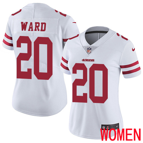 San Francisco 49ers Limited White Women Jimmie Ward Road NFL Jersey 20 Vapor Untouchable