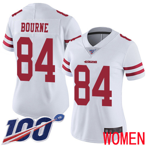 San Francisco 49ers Limited White Women Kendrick Bourne Road NFL Jersey 84 100th