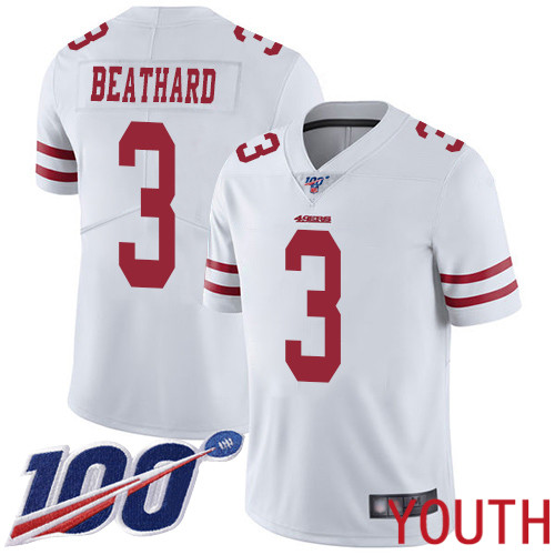 San Francisco 49ers Limited White Youth C. J. Beathard Road NFL Jersey 3 100th Season Vapor Untouchable