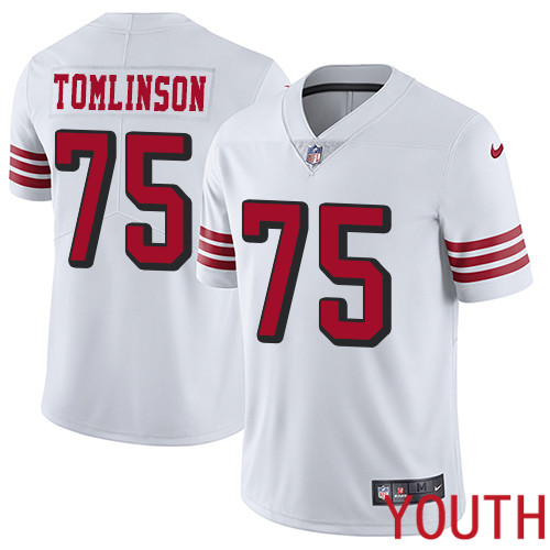 San Francisco 49ers Limited White Youth Laken Tomlinson NFL Jersey 75 Rush Vapor Untouchable