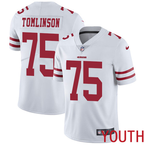 San Francisco 49ers Limited White Youth Laken Tomlinson Road NFL Jersey 75 Vapor Untouchable