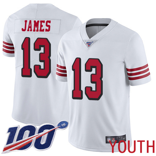 San Francisco 49ers Limited White Youth Richie James NFL Jersey 13 100th Season Rush Vapor Untouchable