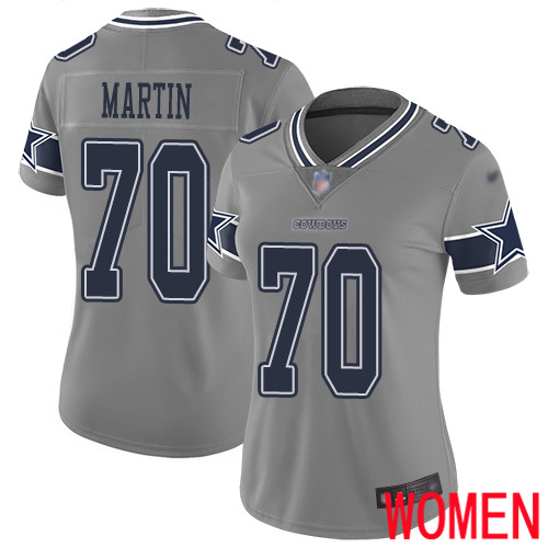 Wholesale Women Dallas Cowboys Limited Gray Zack Martin 70 Inverted Legend NFL Jersey