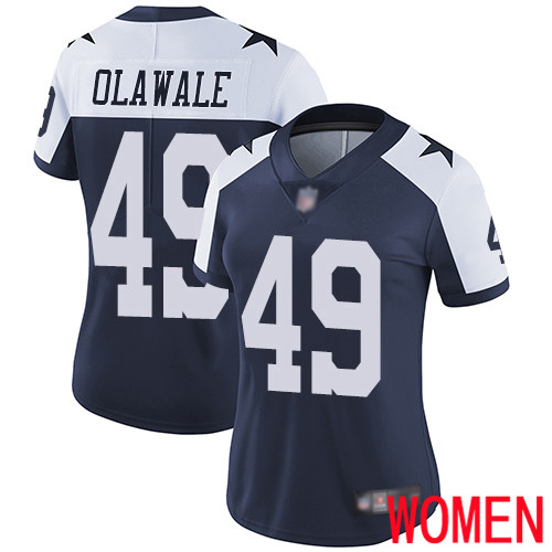 Women Dallas Cowboys Limited Navy Blue Jamize Olawale Alternate 49 Vapor Untouchable Throwback NFL Jersey