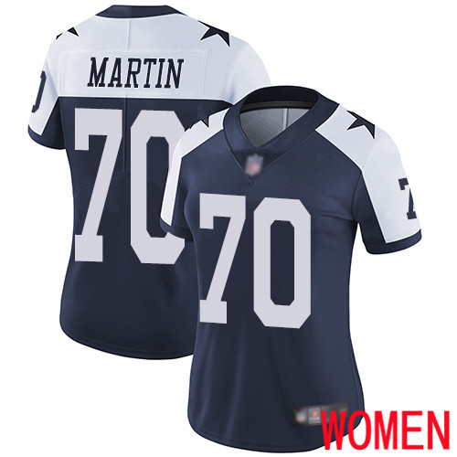 Wholesale Women Dallas Cowboys Limited Navy Blue Zack Martin Alternate 70 Vapor Untouchable Throwback NFL Jersey