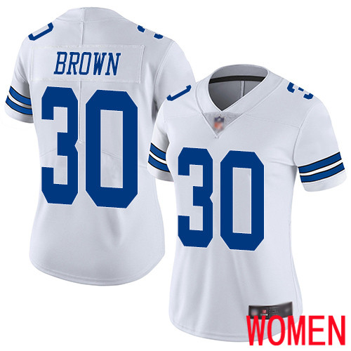 Women Dallas Cowboys Limited White Anthony Brown Road 30 Vapor Untouchable NFL Jersey