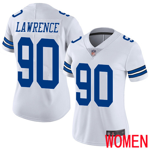 Women Dallas Cowboys Limited White DeMarcus Lawrence Road 90 Vapor Untouchable NFL Jersey