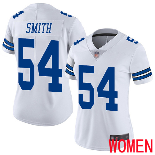 Women Dallas Cowboys Limited White Jaylon Smith Road 54 Vapor Untouchable NFL Jersey
