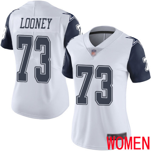 Women Dallas Cowboys Limited White Joe Looney 73 Rush Vapor Untouchable NFL Jersey