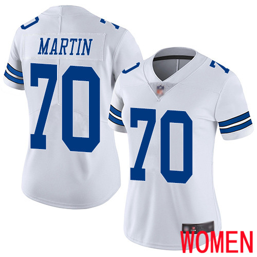 Women Dallas Cowboys Limited White Zack Martin Road 70 Vapor Untouchable NFL Jersey
