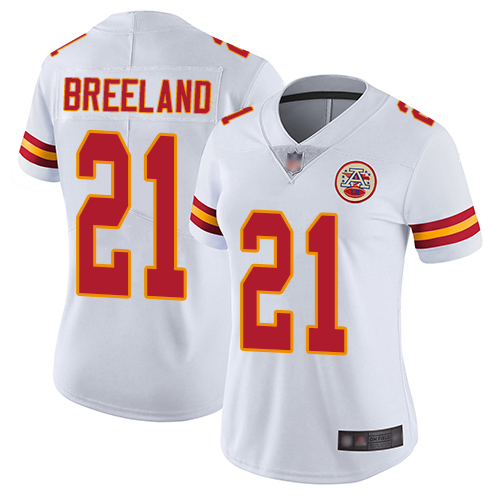 Women Kansas City Chiefs 21 Breeland Bashaud White Vapor Untouchable Limited Player Football Nike NFL Jersey