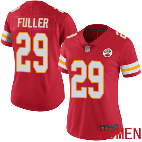 Women Kansas City Chiefs 29 Fuller Kendall Red Team Color Vapor Untouchable Limited Player Football Nike NFL Jersey