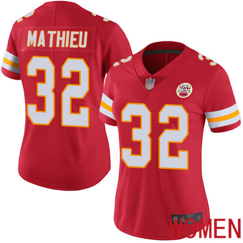 Women Kansas City Chiefs 32 Mathieu Tyrann Red Team Color Vapor Untouchable Limited Player Football Nike NFL Jersey