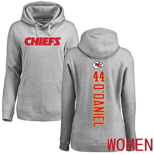 Women Kansas City Chiefs 44 ODaniel Dorian Ash Backer Pullover NFL Hoodie Sweatshirts