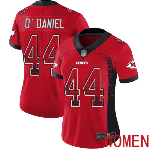 Women Kansas City Chiefs 44 ODaniel Dorian Limited Red Rush Drift Fashion Nike NFL Jersey