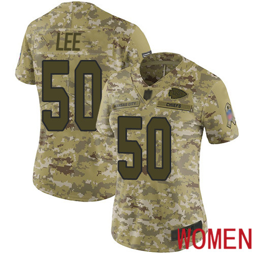 Women Kansas City Chiefs 50 Lee Darron Limited Camo 2018 Salute to Service Nike NFL Jersey