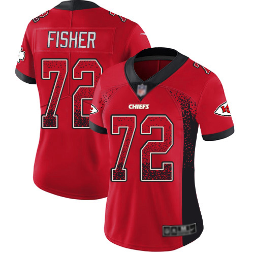Women Kansas City Chiefs 72 Fisher Eric Limited Red Rush Drift Fashion Football Nike NFL Jersey