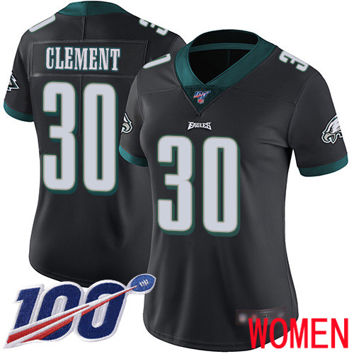 Women Philadelphia Eagles 30 Corey Clement Black Alternate Vapor Untouchable NFL Jersey Limited Player 100th