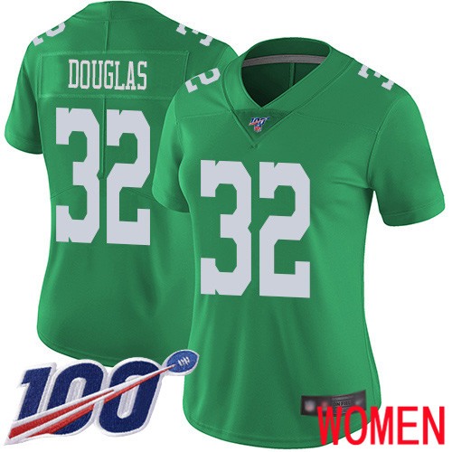 Women Philadelphia Eagles 32 Rasul Douglas Limited Green Rush Vapor Untouchable NFL Jersey 100th Season