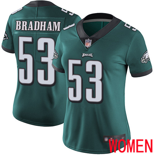 Women Philadelphia Eagles 53 Nigel Bradham Midnight Green Team Color Vapor Untouchable NFL Jersey Limited
