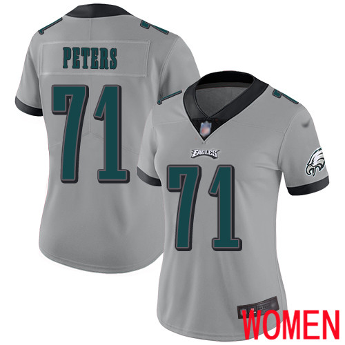 Women Philadelphia Eagles 71 Jason Peters Limited Silver Inverted Legend NFL Jersey Football