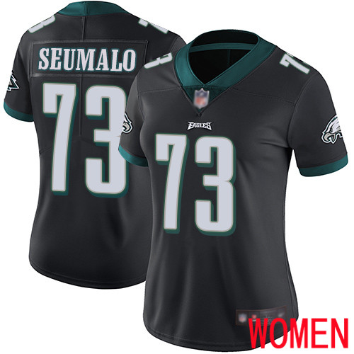 Women Philadelphia Eagles 73 Isaac Seumalo Black Alternate Vapor Untouchable NFL Jersey Limited Player