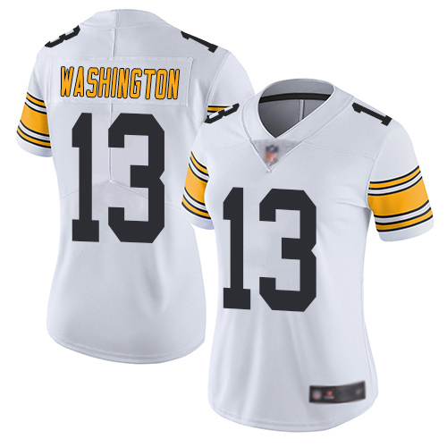 Women Pittsburgh Steelers Football 13 Limited White James Washington Road Vapor Untouchable Nike NFL Jersey