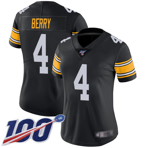 Wholesale Women Pittsburgh Steelers Football 4 Limited Black Jordan Berry Alternate 100th Season Vapor Untouchable Nike NFL Jersey