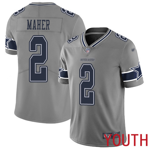 Youth Dallas Cowboys Limited Gray Brett Maher 2 Inverted Legend NFL Jersey
