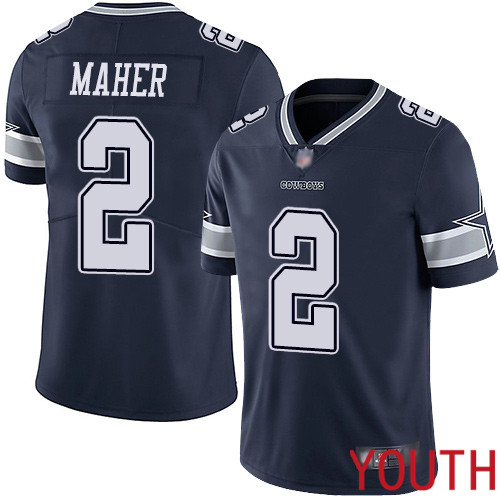 Youth Dallas Cowboys Limited Navy Blue Brett Maher Home 2 Vapor Untouchable NFL Jersey