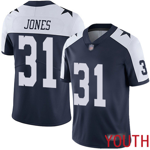 Youth Dallas Cowboys Limited Navy Blue Byron Jones Alternate 31 Vapor Untouchable Throwback NFL Jersey