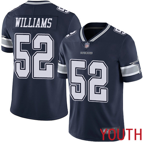 Youth Dallas Cowboys Limited Navy Blue Connor Williams Home 52 Vapor Untouchable NFL Jersey