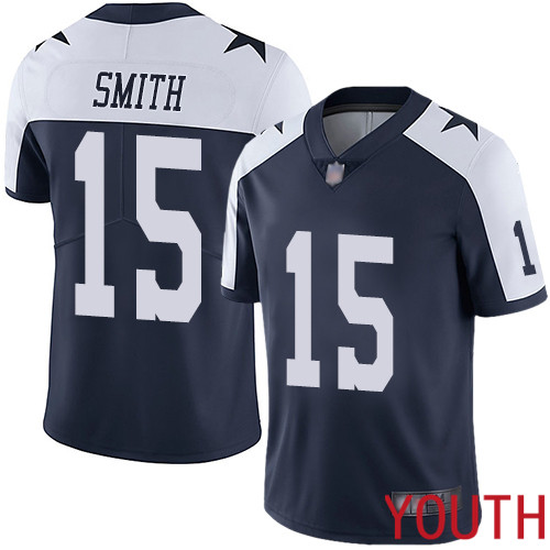 Youth Dallas Cowboys Limited Navy Blue Devin Smith Alternate 15 Vapor Untouchable Throwback NFL Jersey