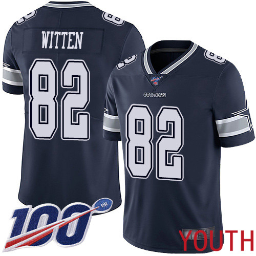 Youth Dallas Cowboys Limited Navy Blue Jason Witten Home 82 100th Season Vapor Untouchable NFL Jersey