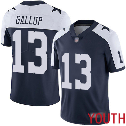 Youth Dallas Cowboys Limited Navy Blue Michael Gallup Alternate 13 Vapor Untouchable Throwback NFL Jersey