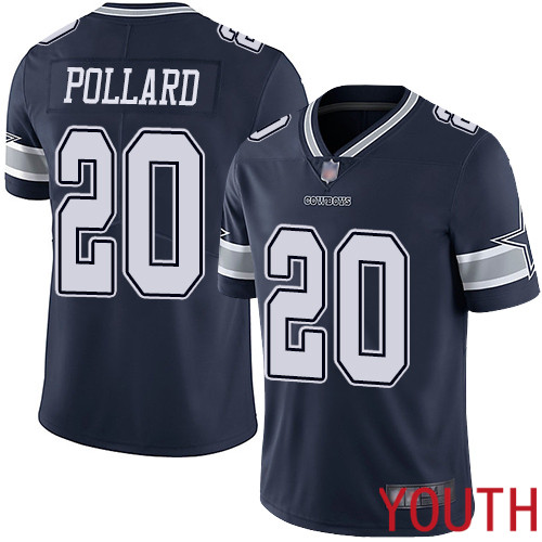 Youth Dallas Cowboys Limited Navy Blue Tony Pollard Home 20 Vapor Untouchable NFL Jersey