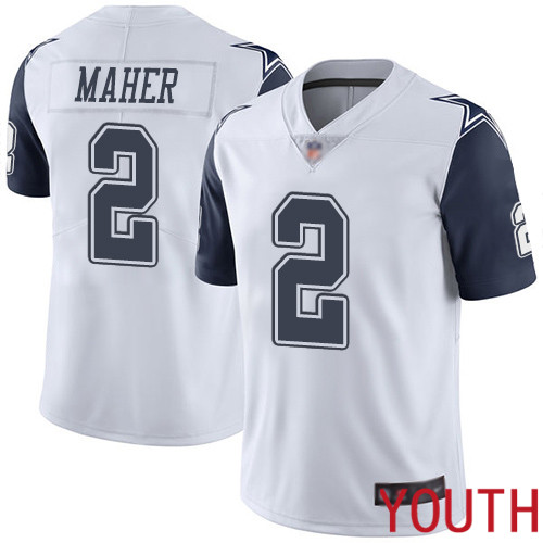 Youth Dallas Cowboys Limited White Brett Maher 2 Rush Vapor Untouchable NFL Jersey