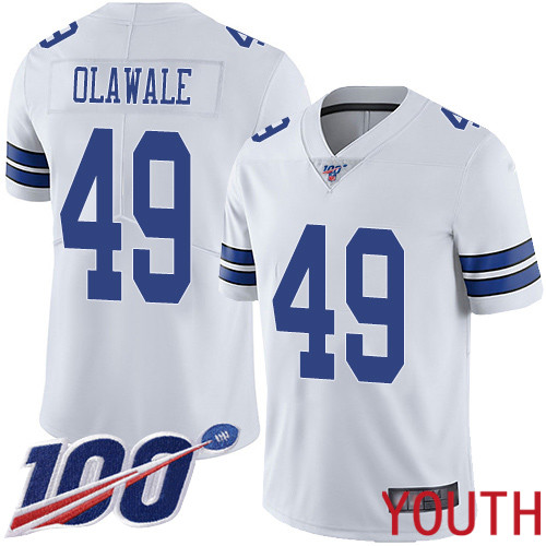 Youth Dallas Cowboys Limited White Jamize Olawale Road 49 100th Season Vapor Untouchable NFL Jersey