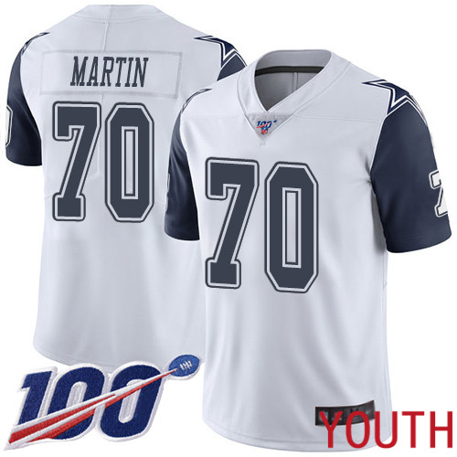 Youth Dallas Cowboys Limited White Zack Martin 70 100th Season Rush Vapor Untouchable NFL Jersey