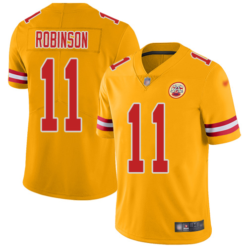 Youth Kansas City Chiefs 11 Robinson Demarcus Limited Gold Inverted Legend Football Nike NFL Jersey