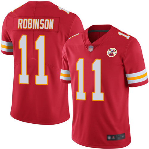 Youth Kansas City Chiefs 11 Robinson Demarcus Red Team Color Vapor Untouchable Limited Player Football Nike NFL Jersey