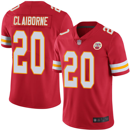 Youth Kansas City Chiefs 20 Claiborne Morris Red Team Color Vapor Untouchable Limited Player Football Nike NFL Jersey