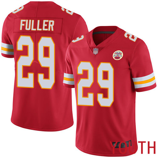 Youth Kansas City Chiefs 29 Fuller Kendall Red Team Color Vapor Untouchable Limited Player Football Nike NFL Jersey