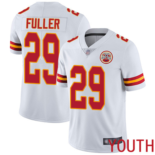 Youth Kansas City Chiefs 29 Fuller Kendall White Vapor Untouchable Limited Player Football Nike NFL Jersey
