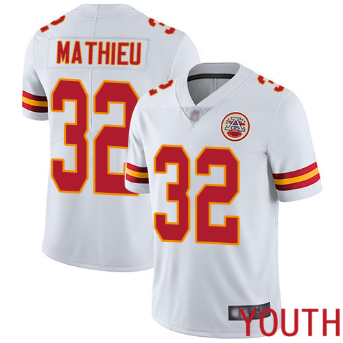 Youth Kansas City Chiefs 32 Mathieu Tyrann White Vapor Untouchable Limited Player Football Nike NFL Jersey
