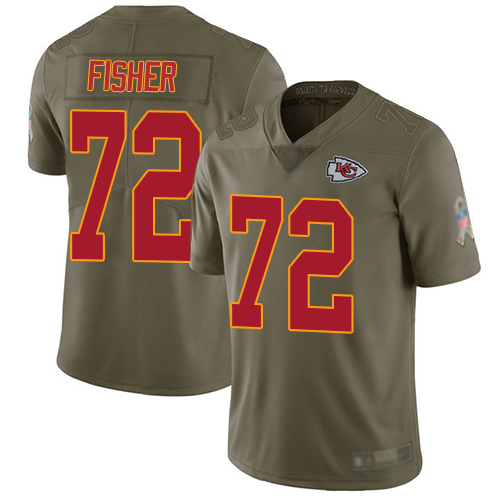 Youth Kansas City Chiefs 72 Fisher Eric Limited Olive 2017 Salute to Service Football Nike NFL Jersey
