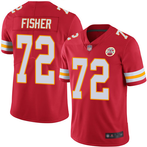 Youth Kansas City Chiefs 72 Fisher Eric Red Team Color Vapor Untouchable Limited Player Football Nike NFL Jersey