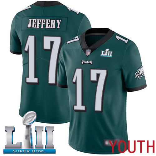 Wholesale Youth Philadelphia Eagles 17 Alshon Jeffery Midnight Green Team Color Vapor Untouchable NFL Jersey Limited