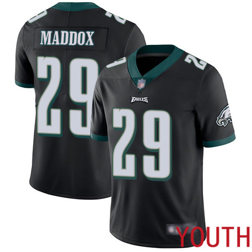Youth Philadelphia Eagles 29 Avonte Maddox Black Alternate Vapor Untouchable NFL Jersey Limited Player